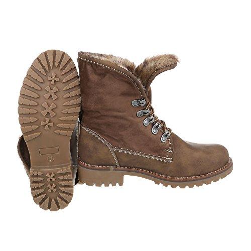 Ital-Design Women's Classic Boot Light Brown bqKeDl