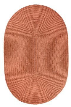 (Braided 5'x8' Almond Oval Solid Color Area Rug )