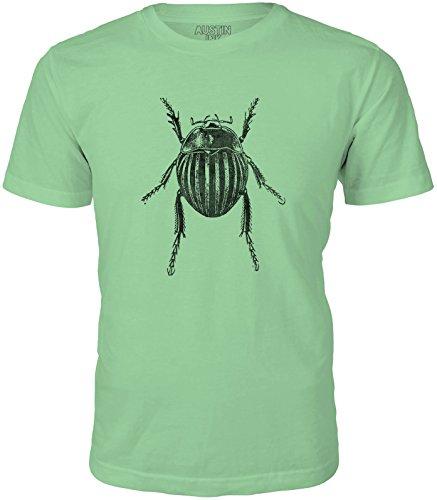 (Austin Ink Apparel Unisex Fine Jersey Fat Garden Beetle Print Soft T-Shirt Top (Leaf Green, L))