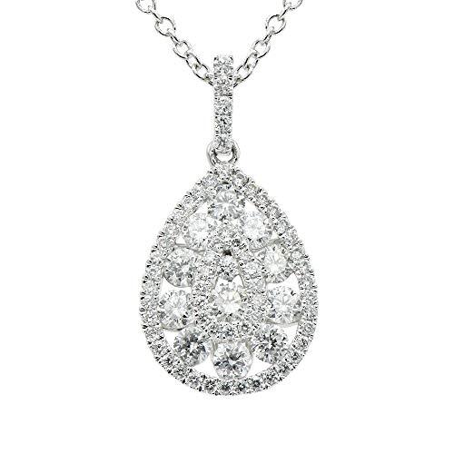 18kt White Gold Fancy Teardrop Diamond Pendant 0.82ct