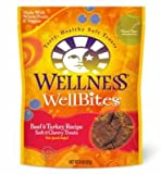 Wellness Wellbites Soft Natural Dog Treats, Beef & Turkey, 8-Ounce Bag