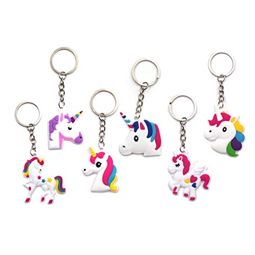 - 25Pcs Unicorn Keychains Set Gifts For Kids Adults Children Party Favors