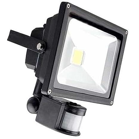 Foco LED 50 W exterior Foco Faro Detector de movimiento Iluminación