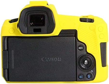 Ychaoya Camera Case Wuzpx Delicate Silicone Protective Case for Canon EOS R Color : Yellow Camouflage
