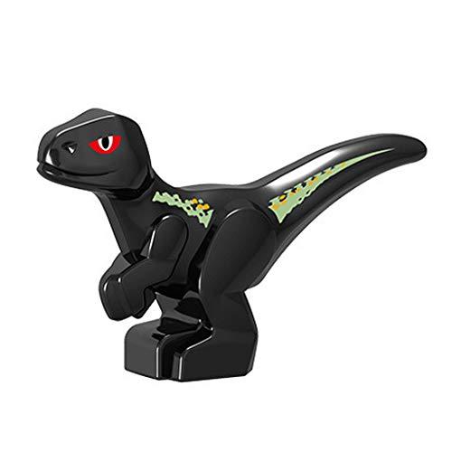 Fiaya New Big Size Kids Dinosaur Model DIY Assembled Building Blocks Action Figures Playset Educational Toy Xmas Gifts (03Black) -