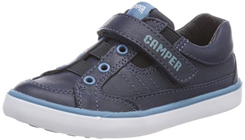 Camper Kids Unisex-Kids Pursuit 80343 Sneaker, Navy, 30 M EU Little Kid (12 US) - Camper Leather Sneakers