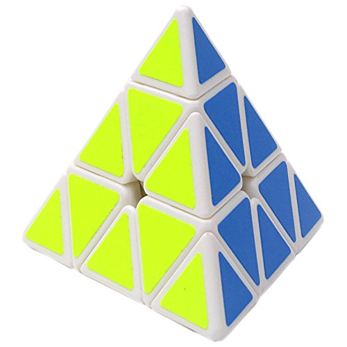 willking Pyramid Cube 3x3 Triangle Speed Cube Twisty Puzzle for Kids Intelligence Development (White)