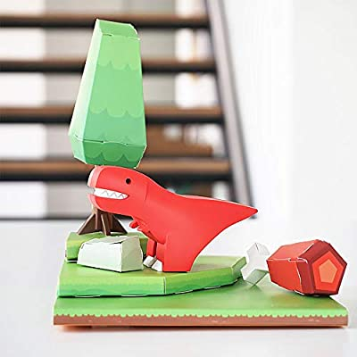 HALFTOYS: My Cute and Crafty Pet Dinosaur, T-Rex (Craft, Magnet, Puzzle, Play and Display!): Toys & Games
