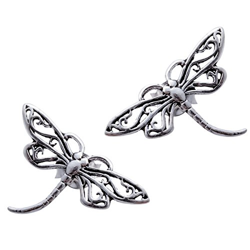YACQ 925 Sterling Silver Women's Dragonfly Stud (Dragonfly Stud Earrings)