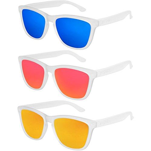 T Vintage Lot de Rétro Set polarisées Style femme Nerd soleil de 3 X de hommes paires mat CRUZE® femmes lunettes transparent homme unisexe 7qywAqW5Bc