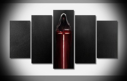 Mcanvas 5pcs Canvas Print Wall Art Painting Kylo Ren Lightsaber Star Wars New For Home Modern Decoration
