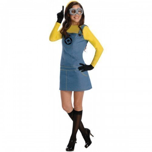 Ladies 5 Piece Licensed Despicable Me Minion Book Day Halloween Fancy Dress Costume Outfit UK 6-18 (UK 6-8) Yellow