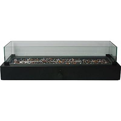 Bond 7-in W 40,000-BTU Black Portable Tabletop Steel Liquid Propane Firebowl