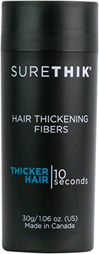 SureThik Hair Thickening Fiber, 100% Organic Keratin Natural Building Fibers, 30 G, Light Brown by SureThik