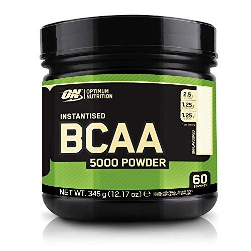 Optimum Nutrition Instantized BCAA Powder, Unflavored, Keto Friendly Branched Chain Essential Amino Acids Powder, 5000mg, 60 Servings, 12.16 Ounce