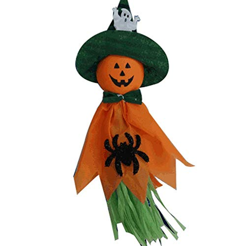 (Polymer True Utility Ghost Windsock Halloween Party Decoration Hanging, Halloween Pumpkin Scarecrow for Holiday Decorations Themed)