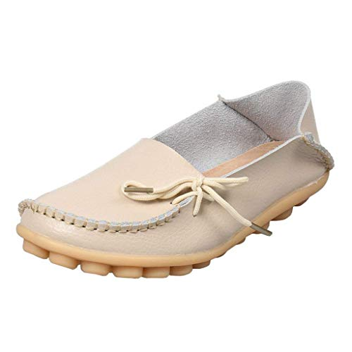 Lacci Uk Pelle A 6 Dimensione In Con colore Shoe Mocassini Flat Donna Eleganti Beige Da Bassa Vita n4xffYaRq