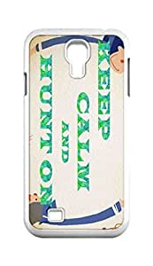 Cool Painting keep calm and hunt on Snap-on Hard Back Case Cover Shell for Samsung GALAXY S4 I9500 I9502 I9508 I959 -655
