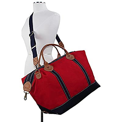 CB Station Weekender, Overnight, Carry-on, Duffel Tote Bag for Women/Ladies, Eco-Friendly, and Durable 20 oz Cotton Canvas