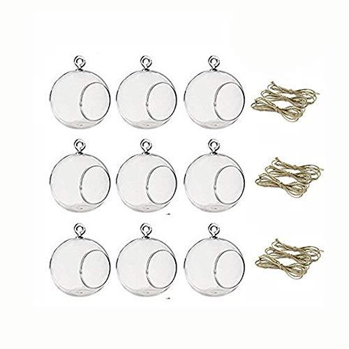 Sfeexun Pcs of 9 Hanging Glass Tealight Holder