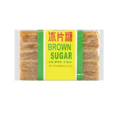 南字牌 传统冰片糖 Brown Slab Sugar Cane Sugar 16oz (3 packs)