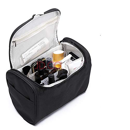 NIRVA WITH DEVICE OF WOMEN PICTURE Polyester Cosmetic cases (Black_Travel Toiletry Pouch - Travel Kit
