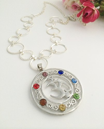 Chakra Necklace, Ohm Reiki Pendant Necklace, 21