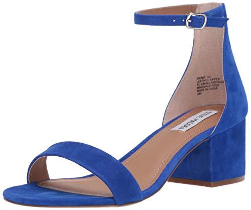 Steve Madden Women's Irenee Heeled Sandal Royal Blue Suede 6.5 M US ()