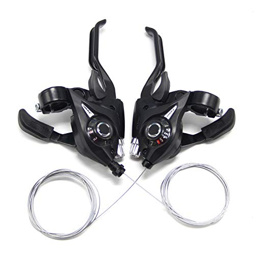 Shimano STEF41 3x6 18Speed Bike Gear Shifter STI Set Black with Inner Cables