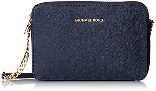 Michael Kors Crossbodies, Bolso Bandolera para Mujer, 1.9x10.2x22.9 cm (W x H x L) Navy
