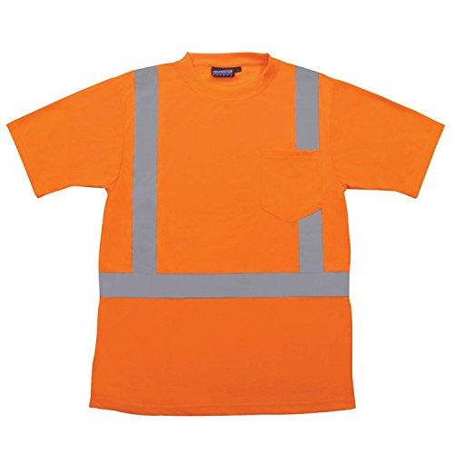 Top ERB 616789006S ANSI Hi-Vizability Short Sleeve Birdseye Mesh Shirt, Large, Orange free shipping