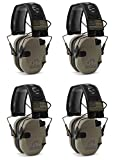 Walkers-GWPRSEMPAT-Razor-Patriot-Electronic-Earmuff-23-dB-Flat-Dark-EarthAmerica-Patch--4-Pack