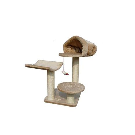 Daeou Árbol para Gatos rascador Zapatillas Nido Peluche Gato casa pequeño Gato sisal de Plataforma de