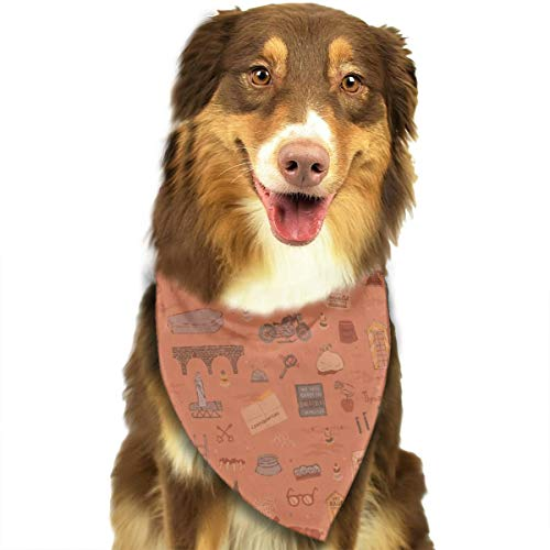 Dog Bandana Triangle Scarfs Puppy Bibs Accessories, Art Wallpaper, for Dogs, Cats, Pet Birthday Party Gifts Supplies
