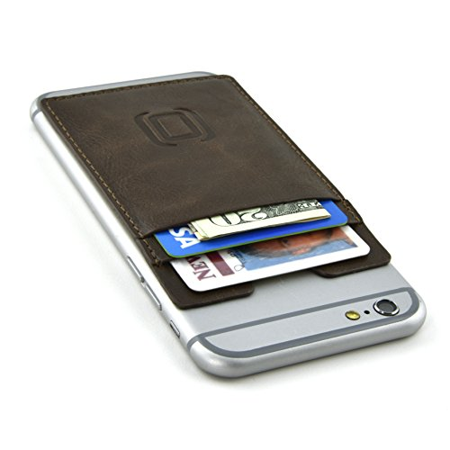 Dockem Adhesive Wallet with 2 Card Slots; Removable Stick ...