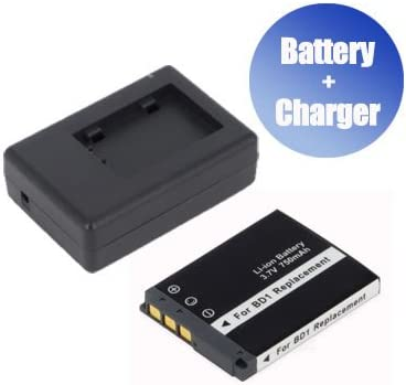 Battpit Battpit New Digital Camera Battery 750 mAh Charger Replacement for Sony CyberShot DSC-T200//B