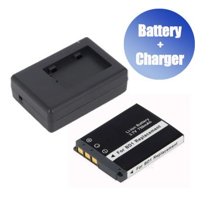 BattPit/™ New Digital Camera Battery 750 mAh Charger Replacement for Sony Cybershot DSC-T90//T