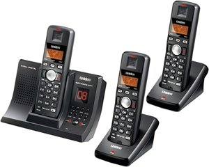 Uniden Tru9280-3 5.8 Ghz 3-Handset Cordless Phone System With Answering System & Call Waiting Caller Id 5.8 Ghz Three Handset
