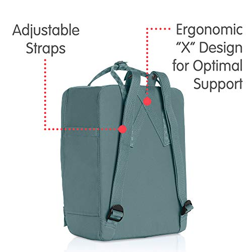 Fjallraven - Kanken Classic Backpack for Everyday, Frost Green-Chess Pattern by Fjallraven (Image #3)