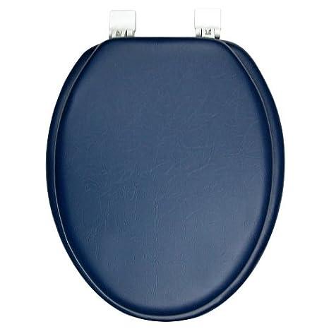 Fantastic Amazon Com Elongated Premium Ginsey Navy Padded Soft Toilet Dailytribune Chair Design For Home Dailytribuneorg