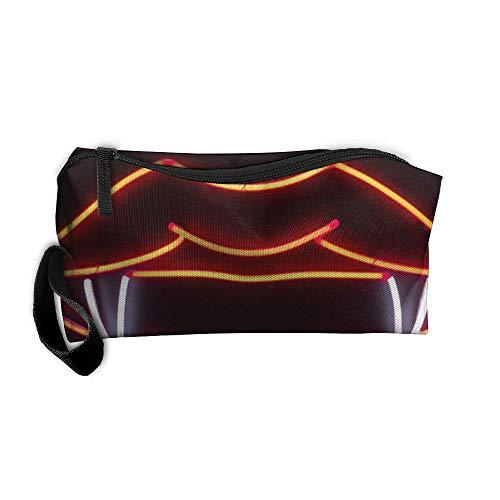 King Fong Vampire Kiss Makeup Bag for Men/Women, Travel Toiletry Bag, Oxford Pencil Case
