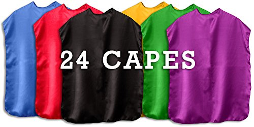 [Superhero Capes Children Set of 24 (Assorted)] (Make Your Own Superhero Costume)