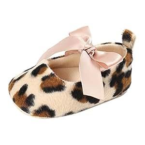 Cssd recién nacido bebé niña leopardo suave suela antideslizante Zapatos de Prewalker