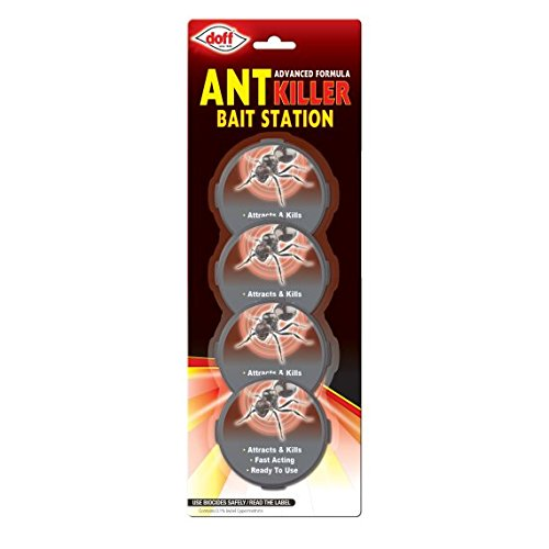 Doff 8 pack x Ant Killer bait Station Trap Stop Destroy Kills Ants Nests 10g Packs