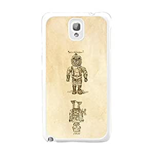 Creative Designed Picture Cool Unique Hard Plastic Mobile Phone Back Cover Case for Samsung Galaxy Note 3 (cool spaceman BY814)