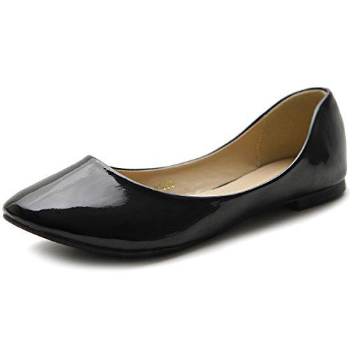 Enamel Ollio Ballet Black Shoe Women's Flat ZqwTA0