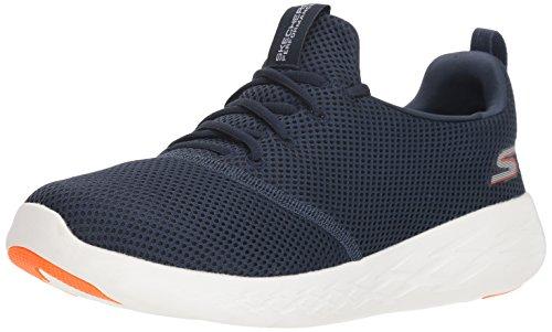 Skechers Men's GO Run 600 55076 Sneaker, Navy/Orange, 9.5 M US