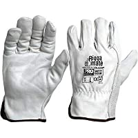 Genuine Cobra Grey Leather Riggers Industrial Work Gloves (8 (M))