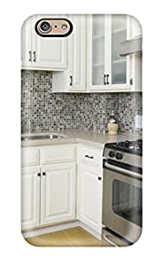 Waterdrop Snap-on Small Contemporary Kitchen With Glass Backsplash Case For Iphone 6(3D PC Soft Case)