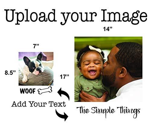 "Yipes Print Shop Polaroid with Custom Text- Small (7""X8.5"")"